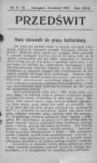 Przedświt 1903, Nr 11-12
