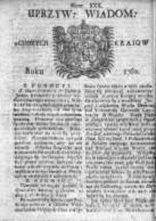 Uprzywilejowane Wiadomości z Cudzych Krajów 1760, Nr 30