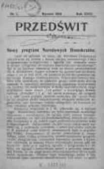 Przedświt 1904, Nr 1