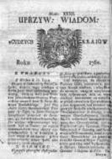 Uprzywilejowane Wiadomości z Cudzych Krajów 1760, Nr 32
