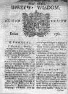 Uprzywilejowane Wiadomości z Cudzych Krajów 1760, Nr 39