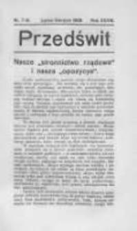 Przedświt 1909, Nr 7-8