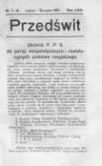 Przedświt 1910, Nr 7-8