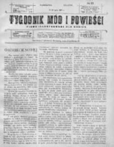 Tygodnik Mód i Powieści. Pismo ilustrowane dla kobiet 1911, Nr 33