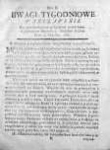 Uwagi Tygodniowe Warszawskie 1768/69, Nr 2