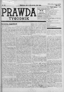 Tygodnik Prawda 2 grudzień 1934 nr 49