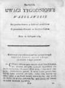 Uwagi Tygodniowe Warszawskie 1768/69, Nr 47