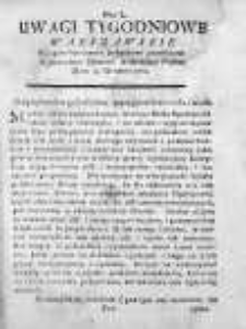 Uwagi Tygodniowe Warszawskie 1768/69, Nr 50