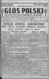 Głos Polski : dziennik polityczny, społeczny i literacki 20 marzec 1927 nr 78