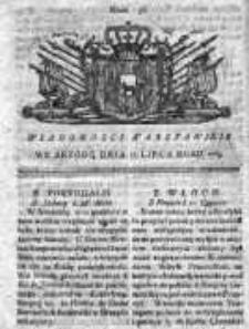 Wiadomości Warszawskie 1765, Nr 57
