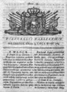 Wiadomości Warszawskie 1765, Nr 59