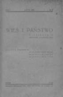 Wieś i Państwo. Miesięcznik poświęcony sprawom wsi 1938, R. I, Nr 2