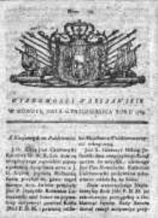 Wiadomości Warszawskie 1765, Nr 78