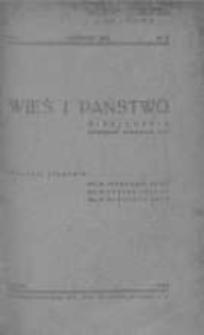 Wieś i Państwo. Miesięcznik poświęcony sprawom wsi 1938, R. I, Nr 6