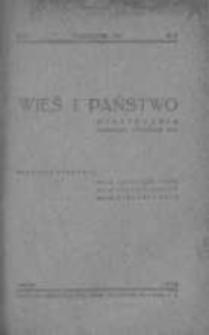 Wieś i Państwo. Miesięcznik poświęcony sprawom wsi 1938, R. I, Nr 8