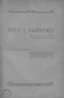 Wieś i Państwo. Miesięcznik poświęcony sprawom wsi 1939, R. II, Nr 2
