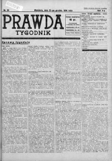 Tygodnik Prawda 23 grudzień 1934 nr 52