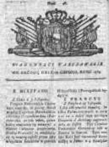 Wiadomości Warszawskie 1765, Nr 96