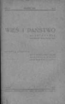 Wieś i Państwo. Miesięcznik poświęcony sprawom wsi 1939, R. II, Nr 3