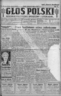 Głos Polski : dziennik polityczny, społeczny i literacki 23 marzec 1927 nr 81