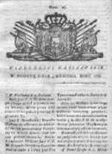 Wiadomości Warszawskie 1767, Nr 27