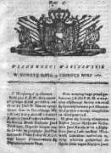 Wiadomości Warszawskie 1767, Nr 47