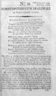 Korespondent Warszawski Donoszący Wiadomości Krajowe i Zagraniczne 1792, I, Nr 39