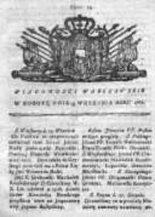 Wiadomości Warszawskie 1767, Nr 75