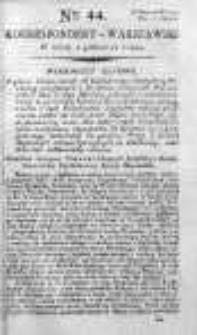 Korespondent Warszawski Donoszący Wiadomości Krajowe i Zagraniczne 1792, I, Nr 44