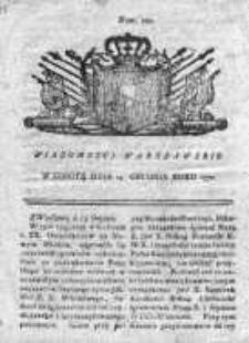 Wiadomości Warszawskie 1771, Nr 100
