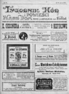 Tygodnik Mód i Powieści. Pismo ilustrowane dla kobiet 1912, Nr 37