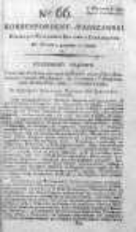 Korespondent Warszawski Donoszący Wiadomości Krajowe i Zagraniczne 1792, II, Nr 66