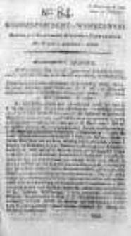 Korespondent Warszawski Donoszący Wiadomości Krajowe i Zagraniczne 1792, II, Nr 84