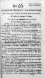 Korespondent Warszawski Donoszący Wiadomości Krajowe i Zagraniczne 1792, II, Nr 86