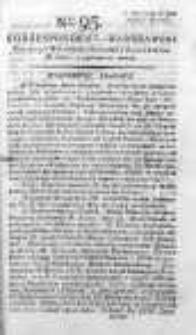 Korespondent Warszawski Donoszący Wiadomości Krajowe i Zagraniczne 1792, II, Nr 95