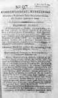 Korespondent Warszawski Donoszący Wiadomości Krajowe i Zagraniczne 1792, II, Nr 97