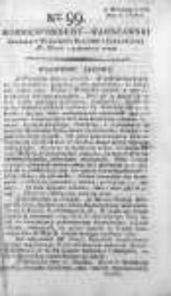 Korespondent Warszawski Donoszący Wiadomości Krajowe i Zagraniczne 1792, II, Nr 99