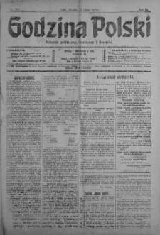 Godzina Polski : dziennik polityczny, społeczny i literacki 10 lipiec 1917 nr 186