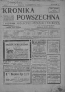 Kronika Powszechna. Tygodnik społeczny literacki i naukowy, 1910, R.1, Nr4