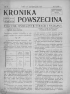 Kronika Powszechna. Tygodnik społeczny literacki i naukowy, 1910, R.1, Nr 8