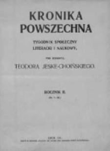 Kronika Powszechna.Tygodnik społeczny literacki i naukowy, 1911, R.2, Nr 2