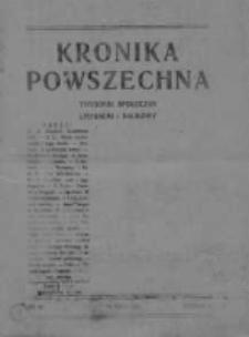 Kronika Powszechna.Tygodnik społeczny literacki i naukowy, 1911, R.2, Nr 20