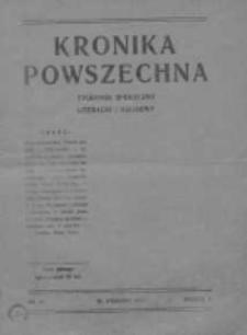 Kronika Powszechna.Tygodnik społeczny literacki i naukowy, 1911, R.2, Nr 40