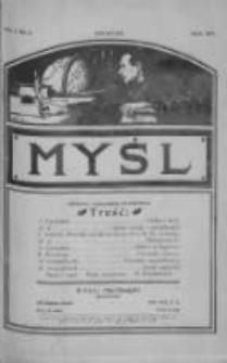 Myśl: jedyne czasopismo popularno-naukowe w Stanach Zjednoczonych Ameryki Północnej, 1910, Vol. 1, Nr 3