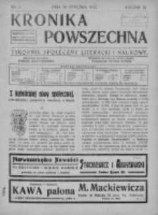 Kronika Powszechna. Tygodnik społeczny literacki i naukowy, 1912, I, T.3, Nr 3