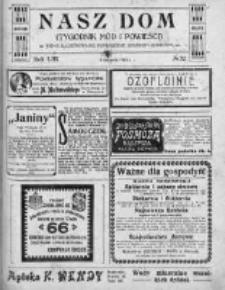 Nasz Dom (Tygodnik Mód i Powieści) 1913, Nr 32