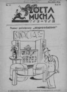 Żółta Mucha Tse-Tse 1931, R.3, Nr 14