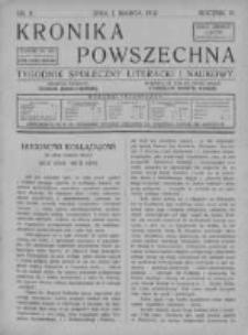 Kronika Powszechna. Tygodnik społeczny literacki i naukowy, 1912, I, T.3, Nr 9