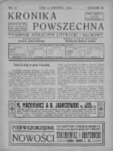 Kronika Powszechna. Tygodnik społeczny literacki i naukowy, 1912, I, T.3, Nr 14