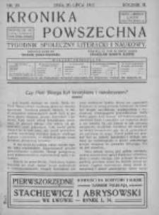 Kronika Powszechna. Tygodnik społeczny literacki i naukowy, 1912, II, T.3, Nr 29